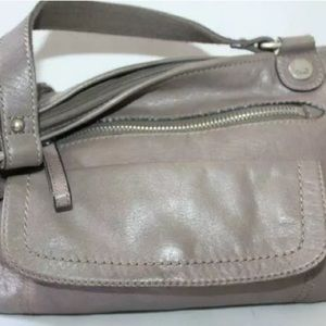 Fossil Gray-Taupe Leather Handbag Satchel
